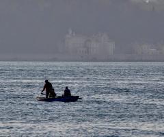 Boğaz'da balıkçılar