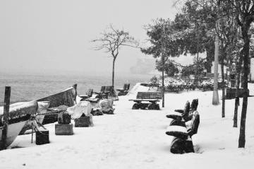 Bu sabah kar var İstanbul'da.