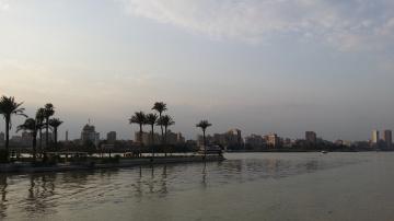 Egypt  - Cairo  - NILE RIVER  SUNSET