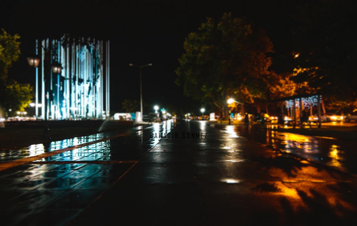 Yağmur sonrası Tekirdağ sahili