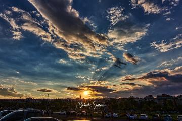 Günbatımı ve bulutlar