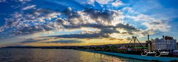 Panoramik görünüm, Gün batımında Tekirdağ