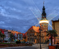 Otmuchów, a small town in Poland